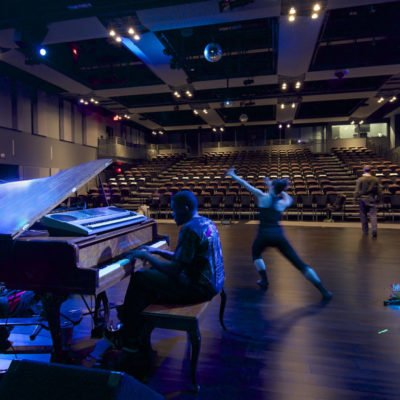 Performer And Pianist Rehearsing In Ada Slaight Hall At Daniels Spectrum