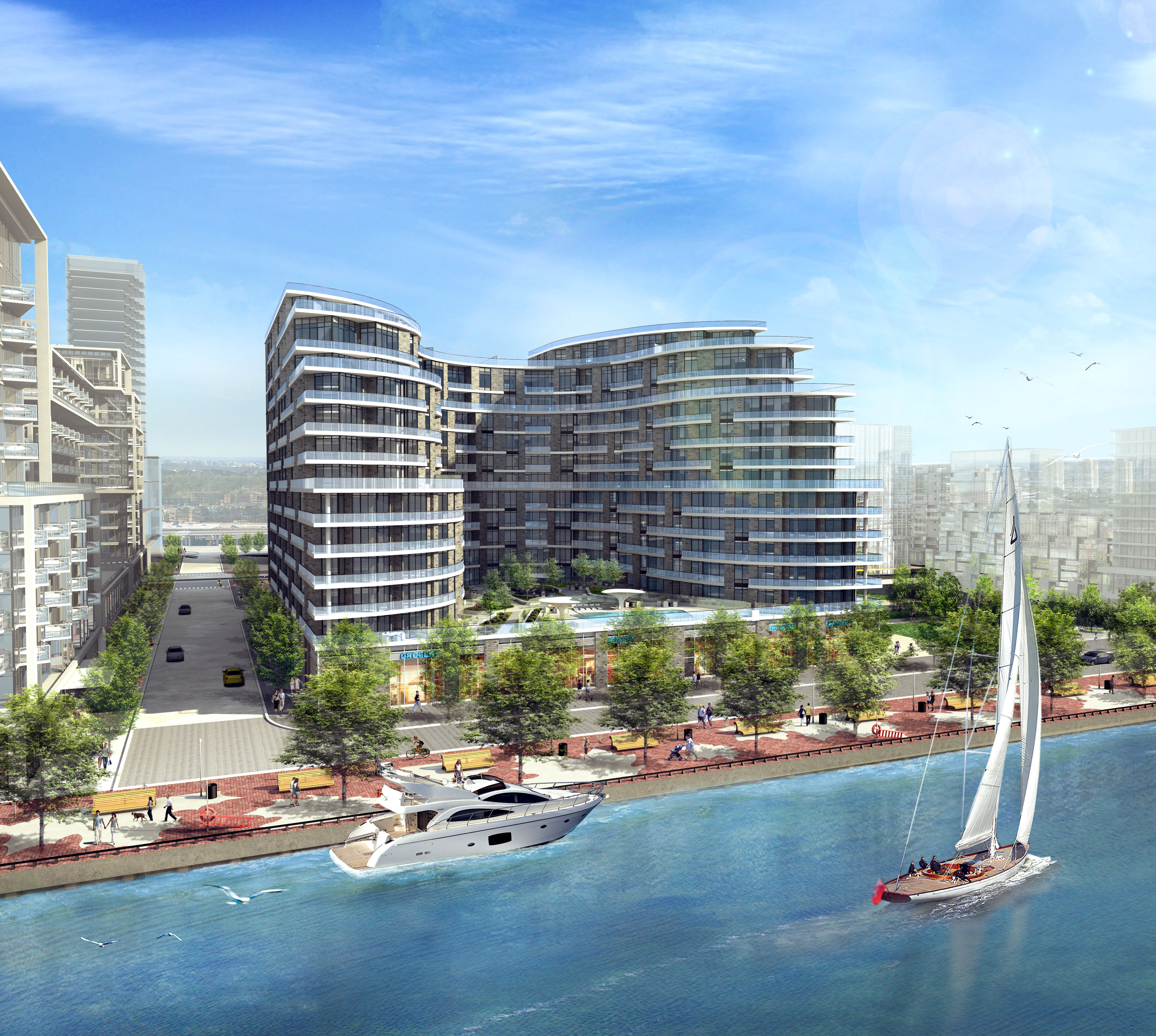 Artist rendering of the Bayside Condos