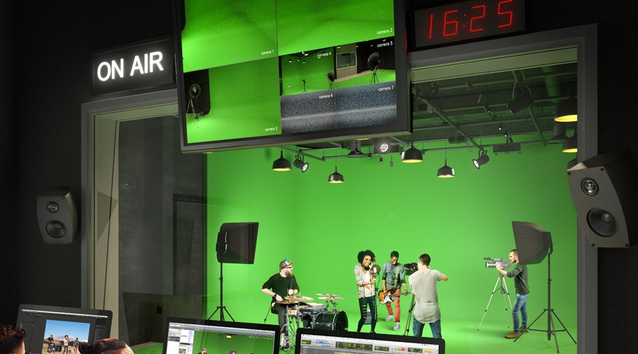 Green Screen Studio Rendering by Norm Li