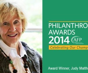 Artscape Volunteer Judy Matthews Wins Prestigious Award