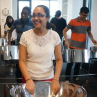 Learning steel drum at the Regent Park School of Music