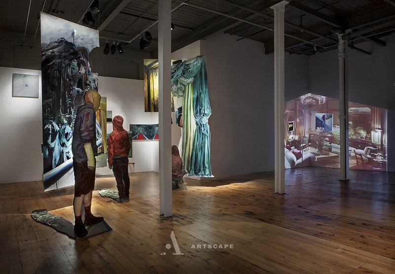 Installation View Of Exhibition We Found Ourselves Within A Dark Forest At Red Head Gallery