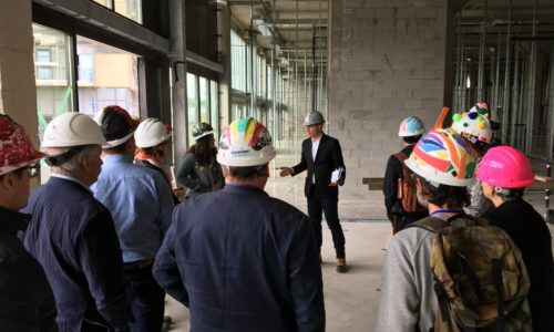 On A Site Tour Of Artscape Weston Common. Photo By Gil Meslin.
