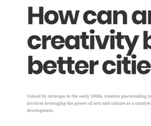 Artscape's Creative Placemaking Lab Launches New Vision And Website