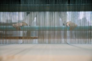 A Look At Warping The TC2 Digital Jacquard Loom