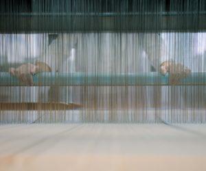 Warping The TC2 Digital Jacquard Loom In The Fashion + Textiles Studio