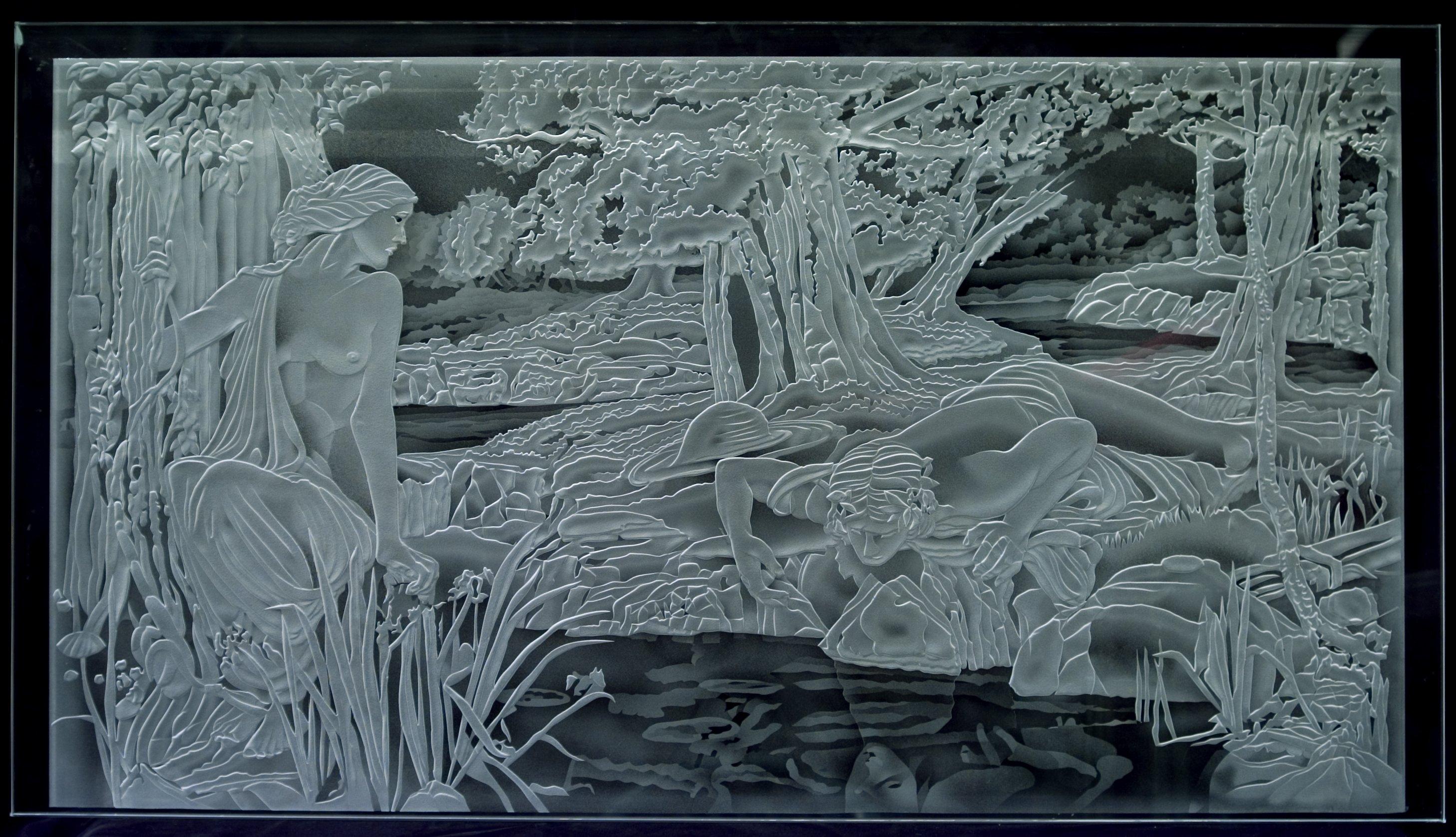 Psychenarcissus Giuseppe Villella Hand Carved Glass 20 X 30 Inches November 20 2019