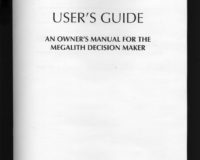 Users Guide An Owners Manual For The Megalith Decision Maker Detail Bookwork Version Xerox 8 12 X 11 11x17 When Opened 16 Pages 2012