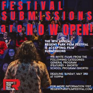 Regent Park Film Festival 2020 Call for Film Submissions