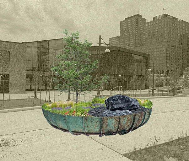 Public art concept rendering by Noah Scheinman (2020)